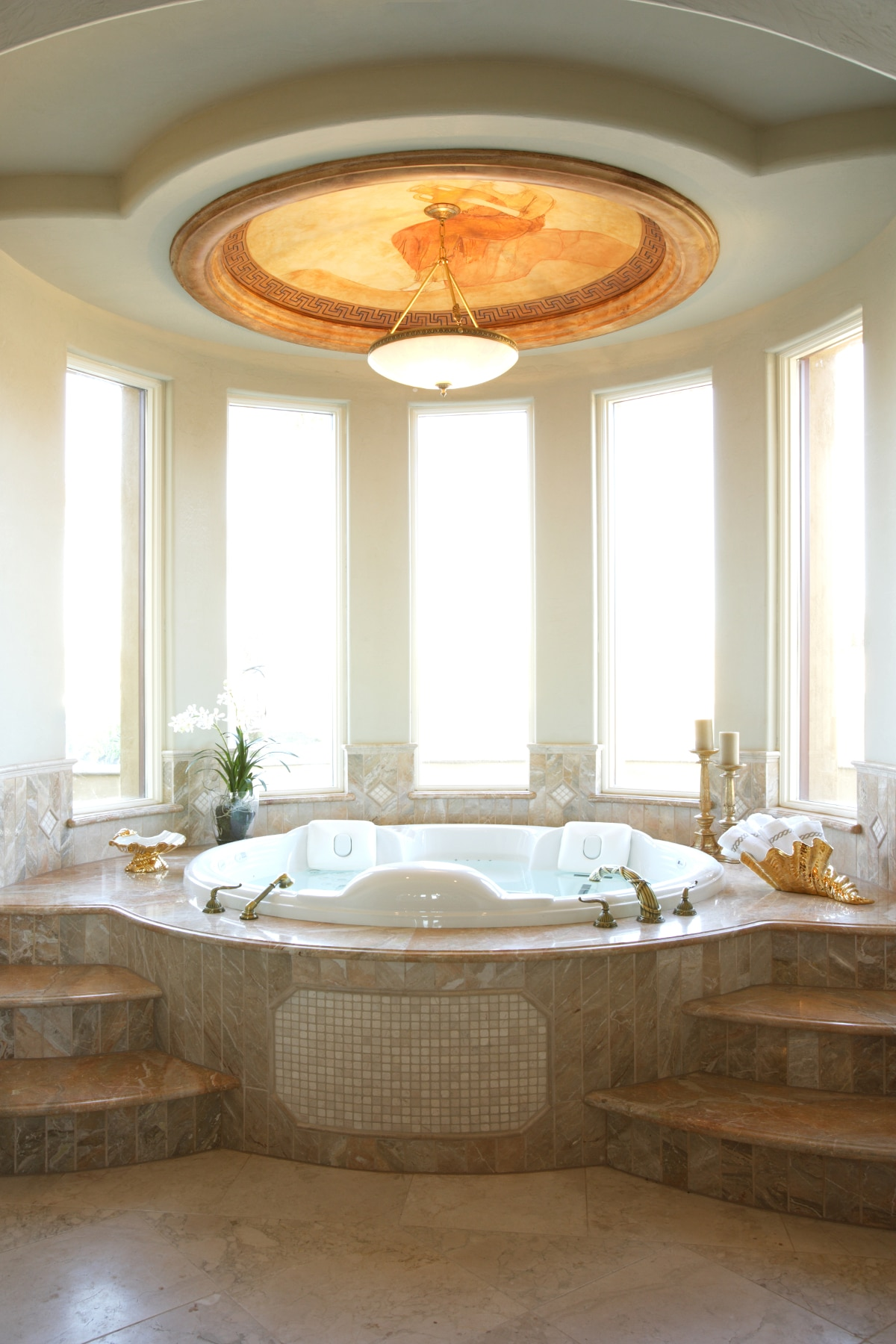 Bathrooms that beckon living magazine for How to decorate a garden tub bathroom