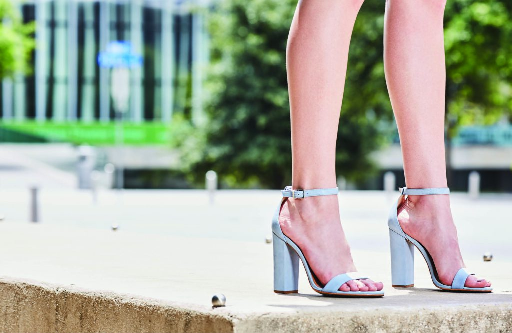 Classic Lines Schutz Enida block heel, $170: Saint Bernard. *For more of an evening look, go for this style with a thinner heel. But be careful...the thinner the heel the less stable the shoe.