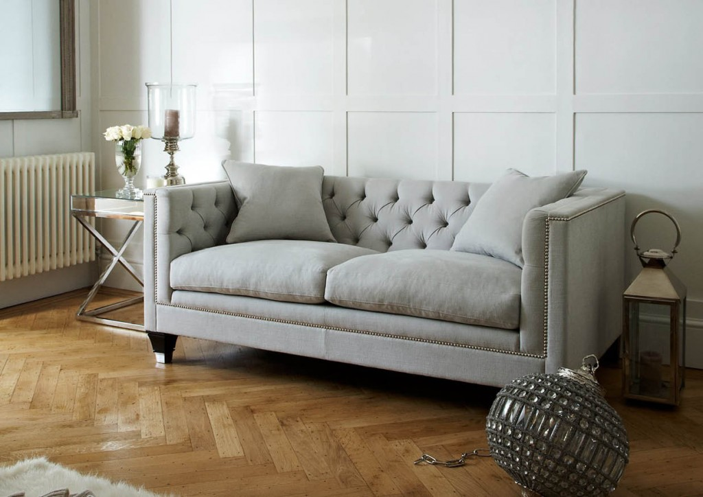 Never fussy but always commanding attention, details such as tufting and nailheads are all the rage. We'd like to think they never went out of fashion, so we're excited to see new products paying homage to classic features. This Balfour Sofa is available in a multitude of sizes and coverings including linen and leather, cotton and velvet. SweetPeaAndWillow.com