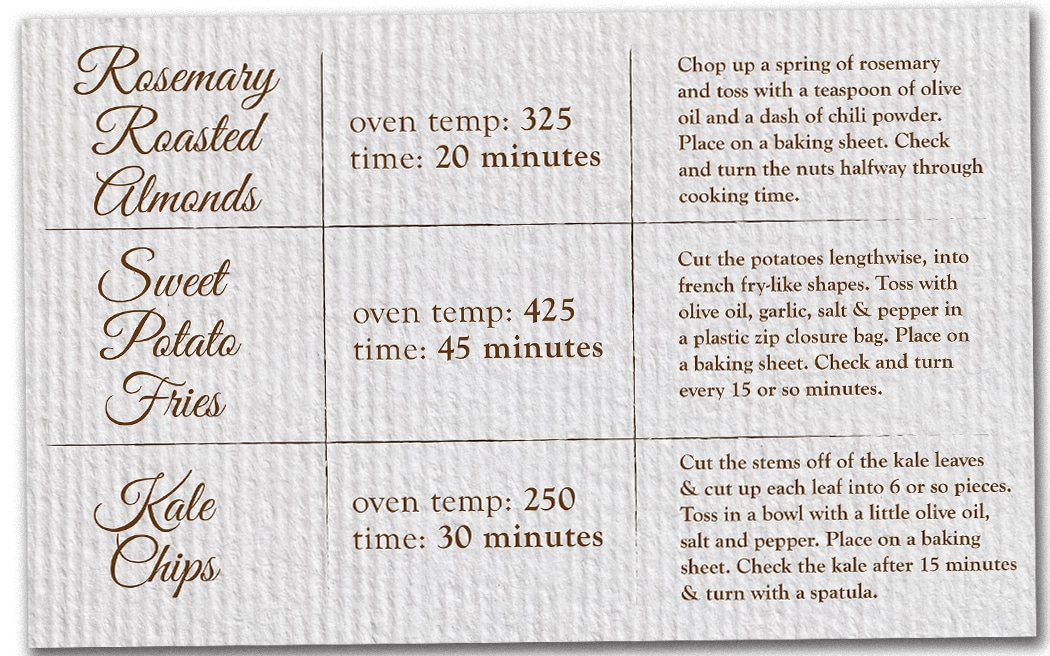 recipe cards so very simple