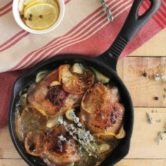 Roasted Garlic Chicken with Oregano, Lemon, and White Wine