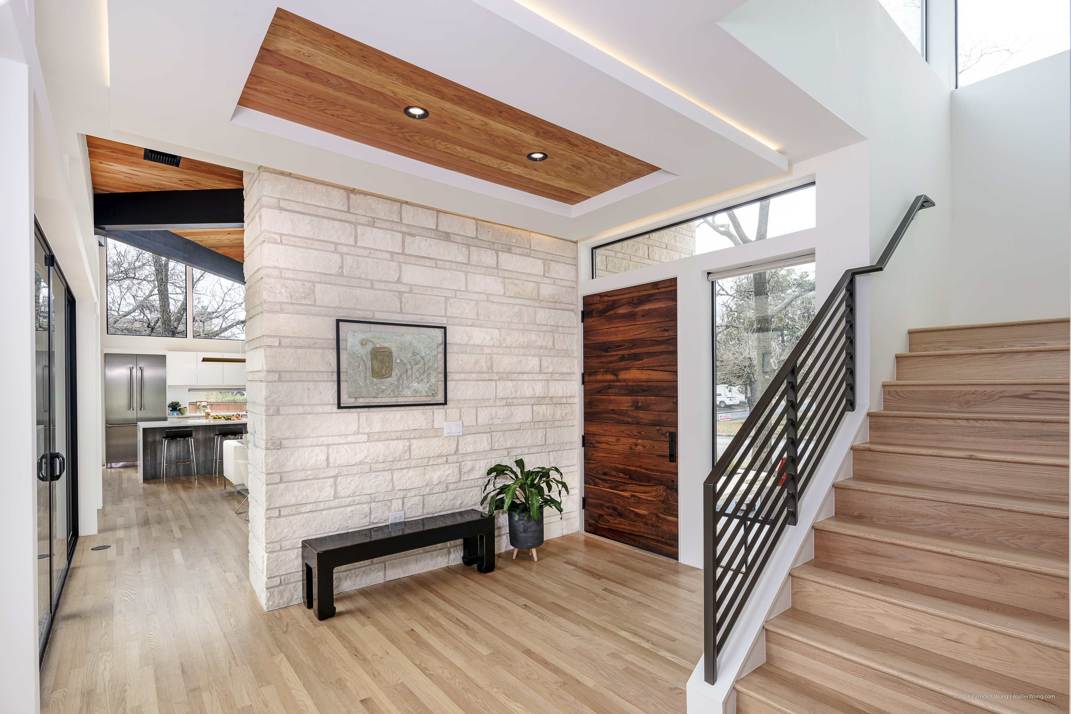 modern home tour texas foyer entryway