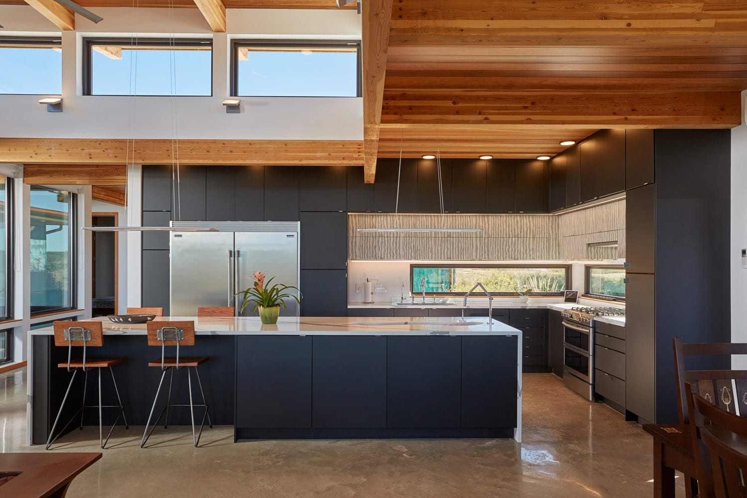 Kitchen Jeff Derebery's custom Lindal Hestia home in the Texas Hill Country, Johnson City