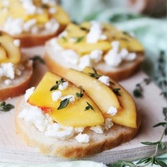 Homemade Feta and Nectarine Bruschetta