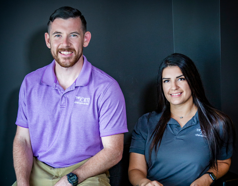 The Joint Chiropractic Dr. Jason Basile, Dr. Briana Hyde, Dr. William Riepe, Dr. Patrick Livinggood