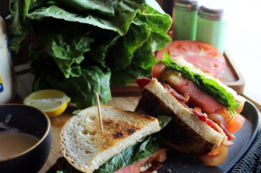 BLT recipe with garlic aioli