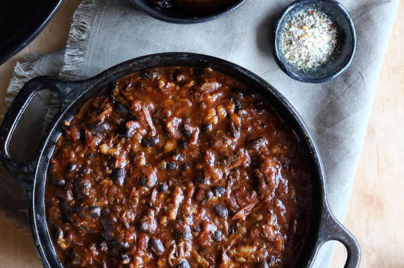 Short Rib and Black Bean Chili